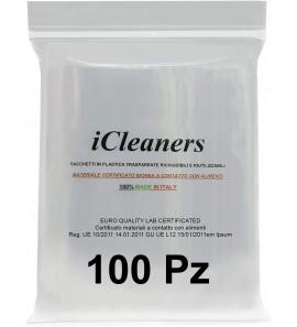 Buste in plastica Trasparente Prodotte in Italia Bustine per Alimenti richiudibili, Chiusura a Pressione, Riutilizzabile